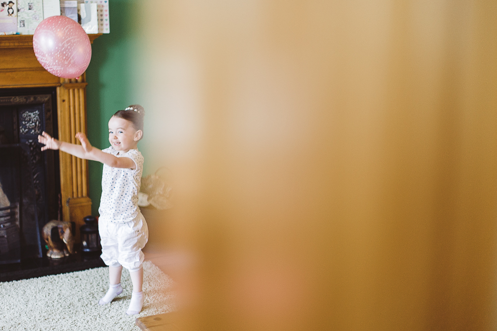 A child in a room