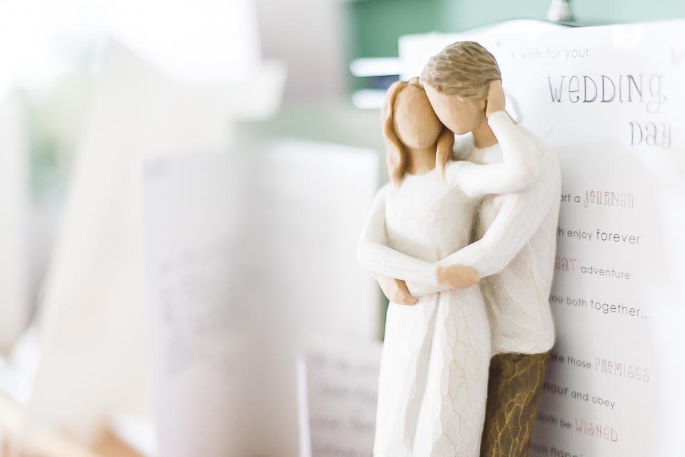 Photograph of wedding figures