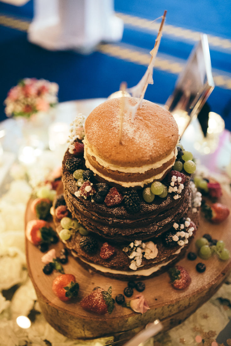 A close up of a decorated cake on a table