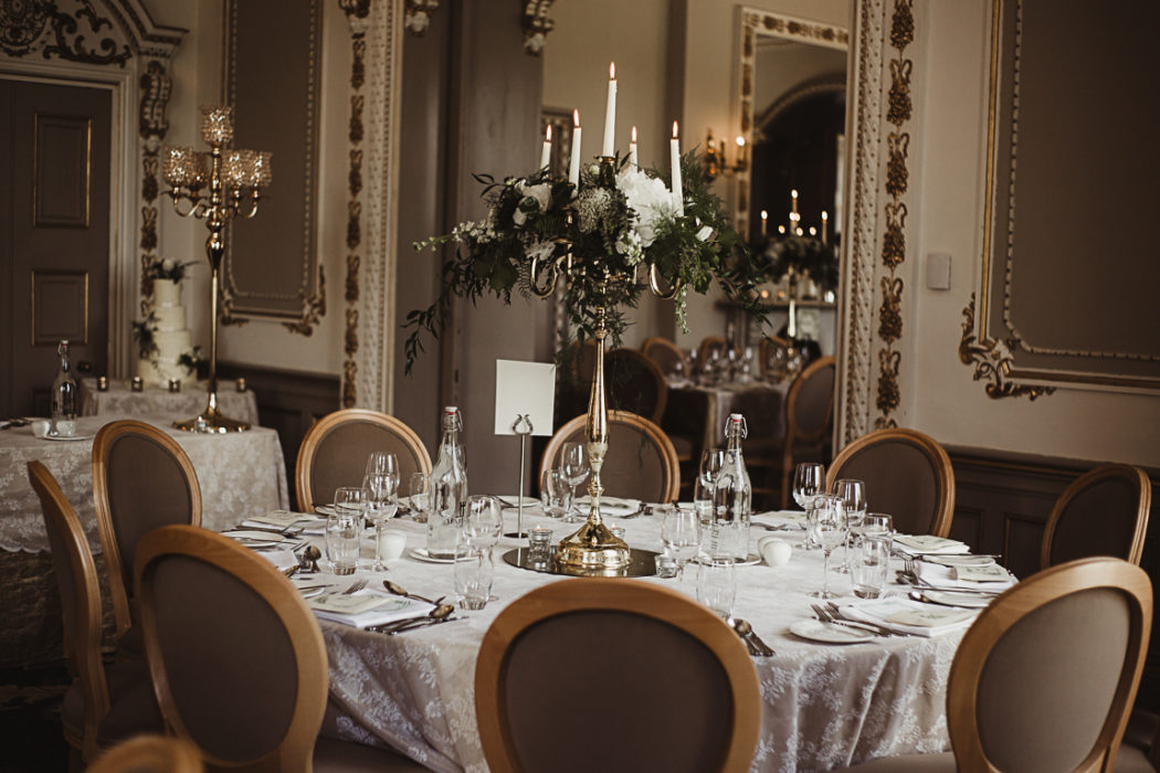A dining room table in Markree Castle