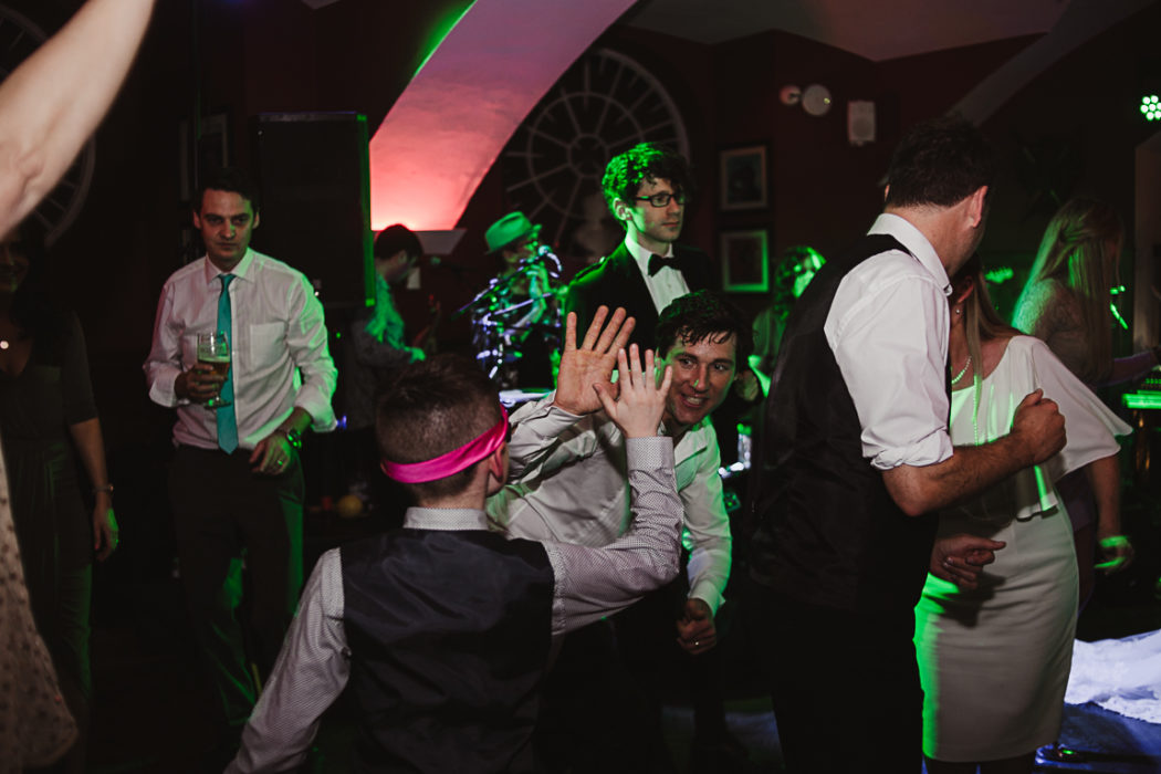 A group of people haveing fun on the party
