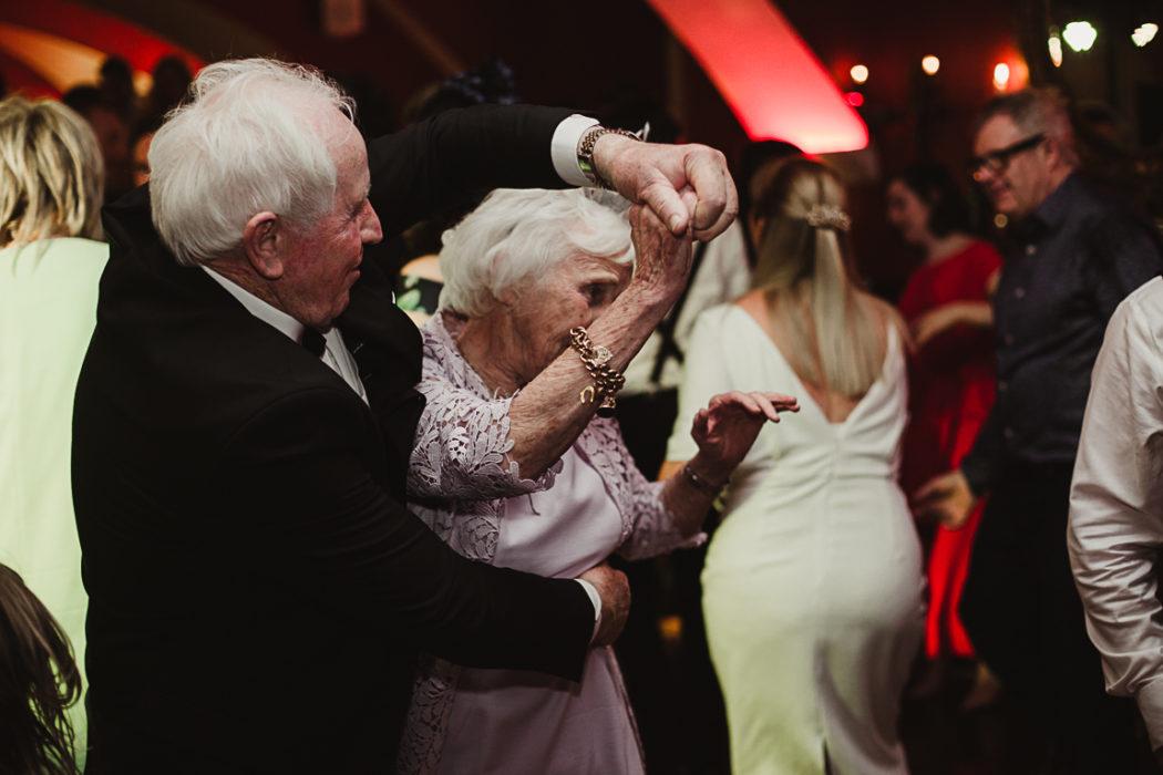 The elders dancing