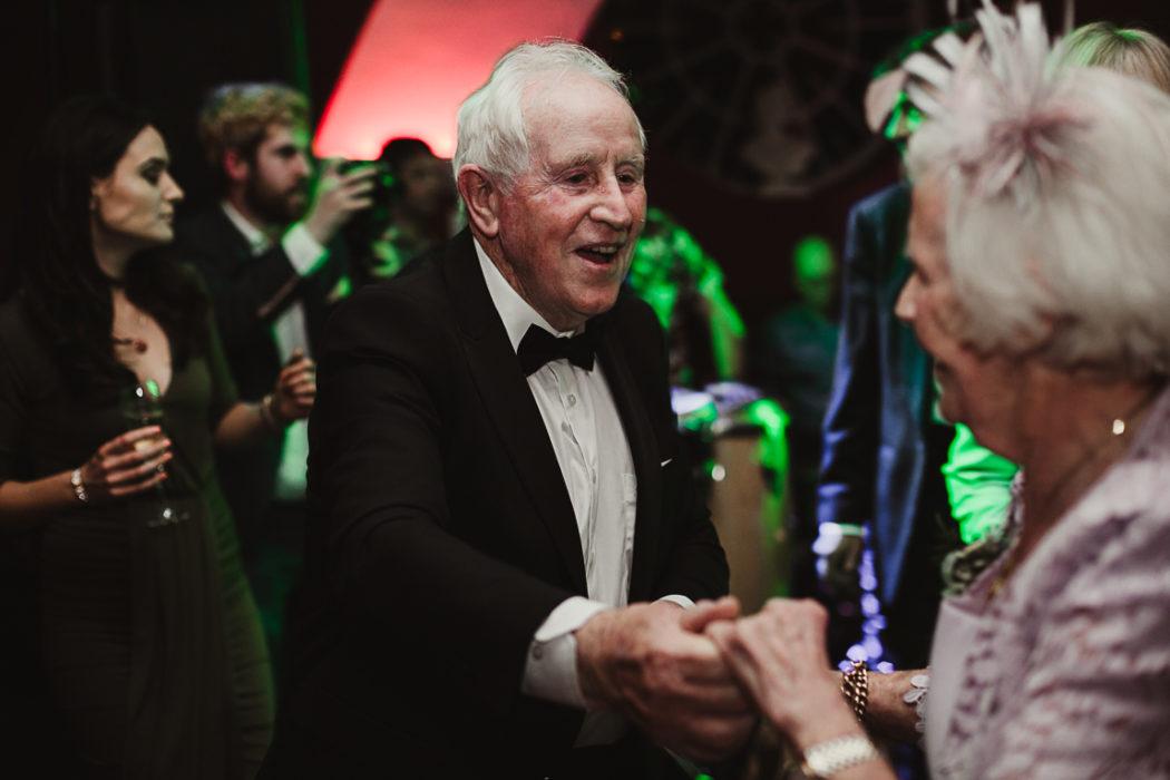 The elders dancing and haveing fun