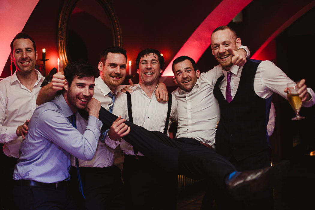 Friends haveing fun on the wedding party