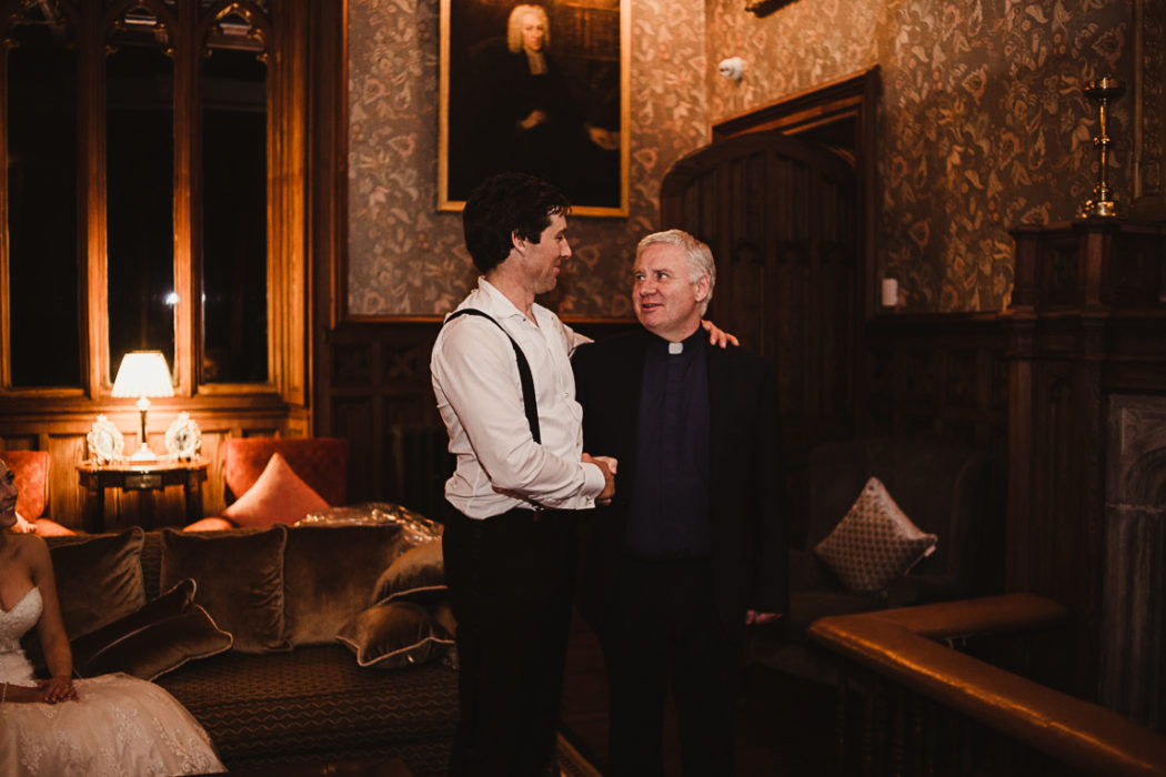 A groom and the priest
