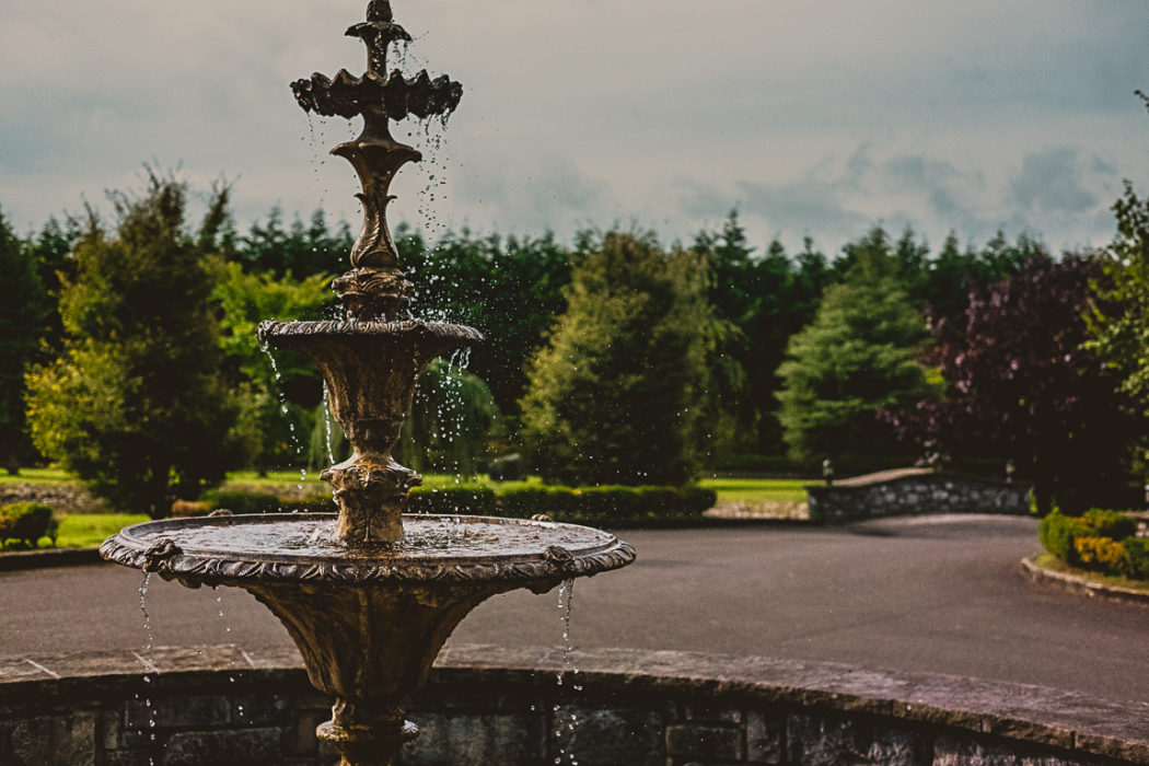 A fountain of water