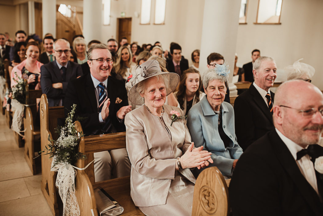 Photograph of wedding ceremony guests