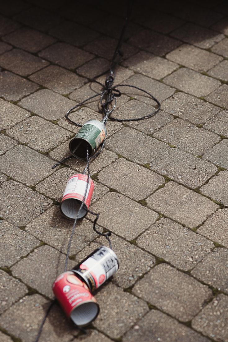 wedding cans