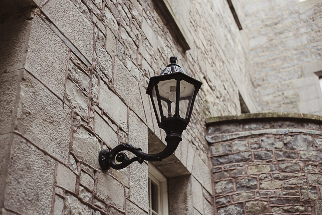 markree castle lamp on the wall