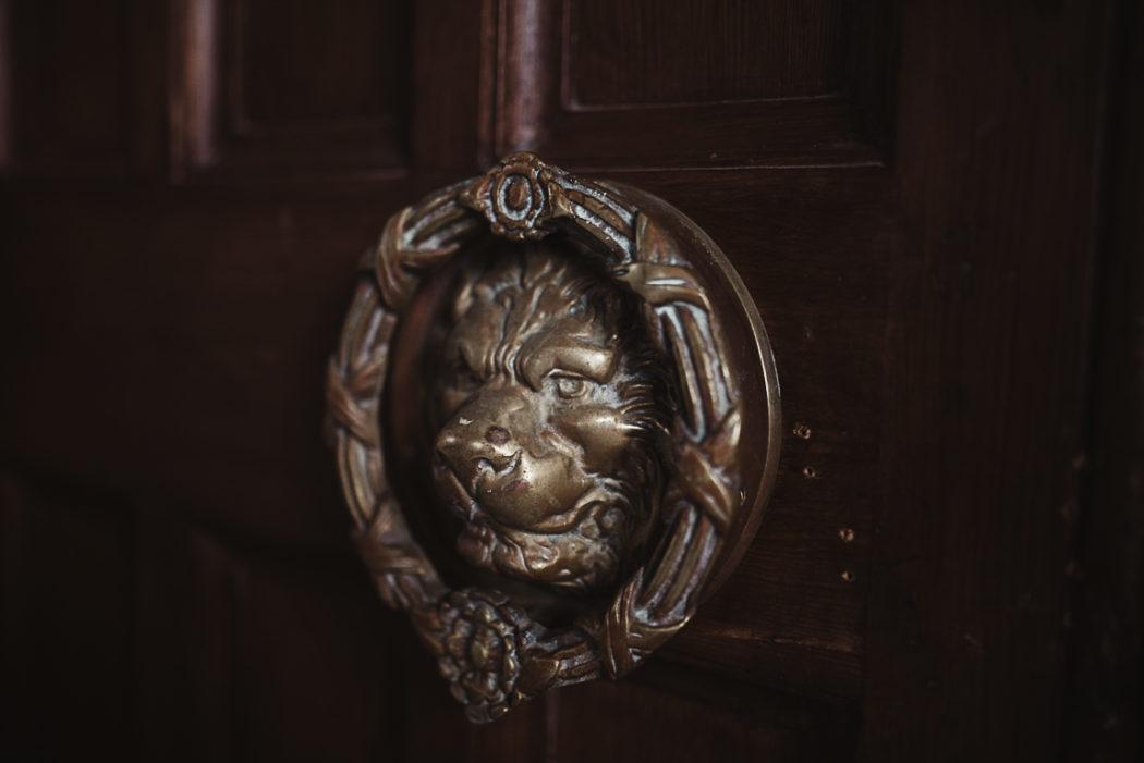 Lion metal door knocker