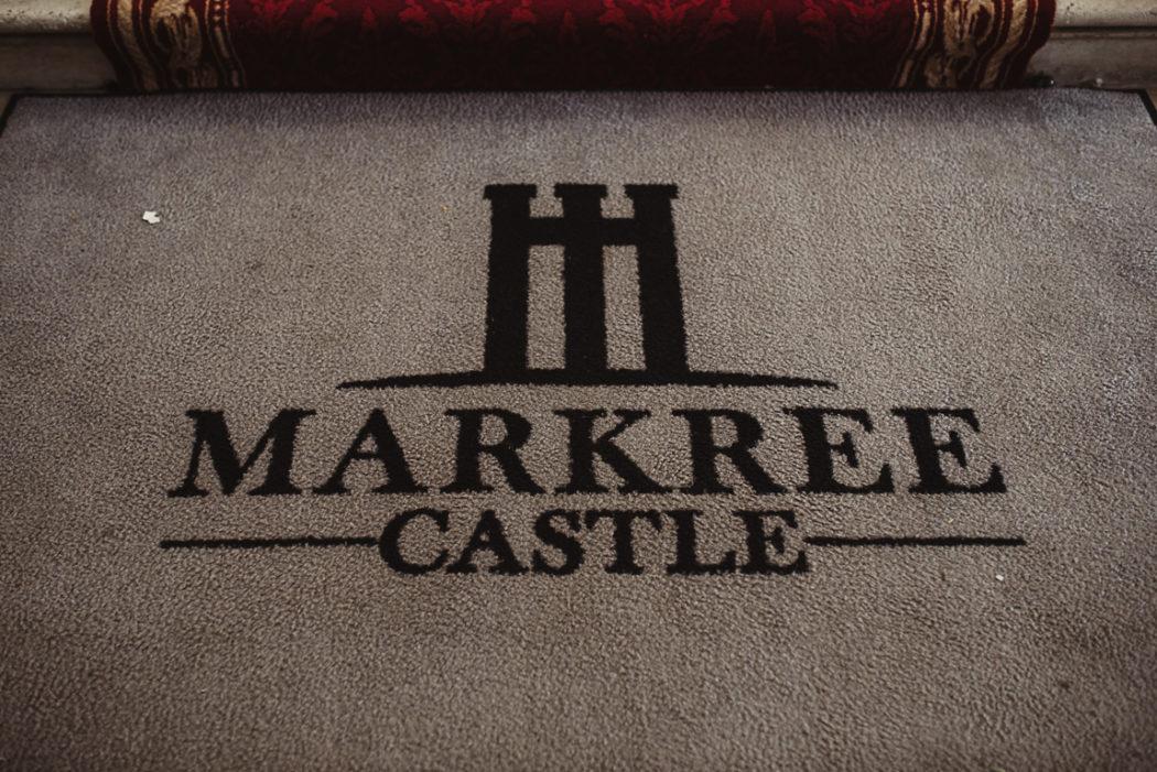 A close up of markree castle logo