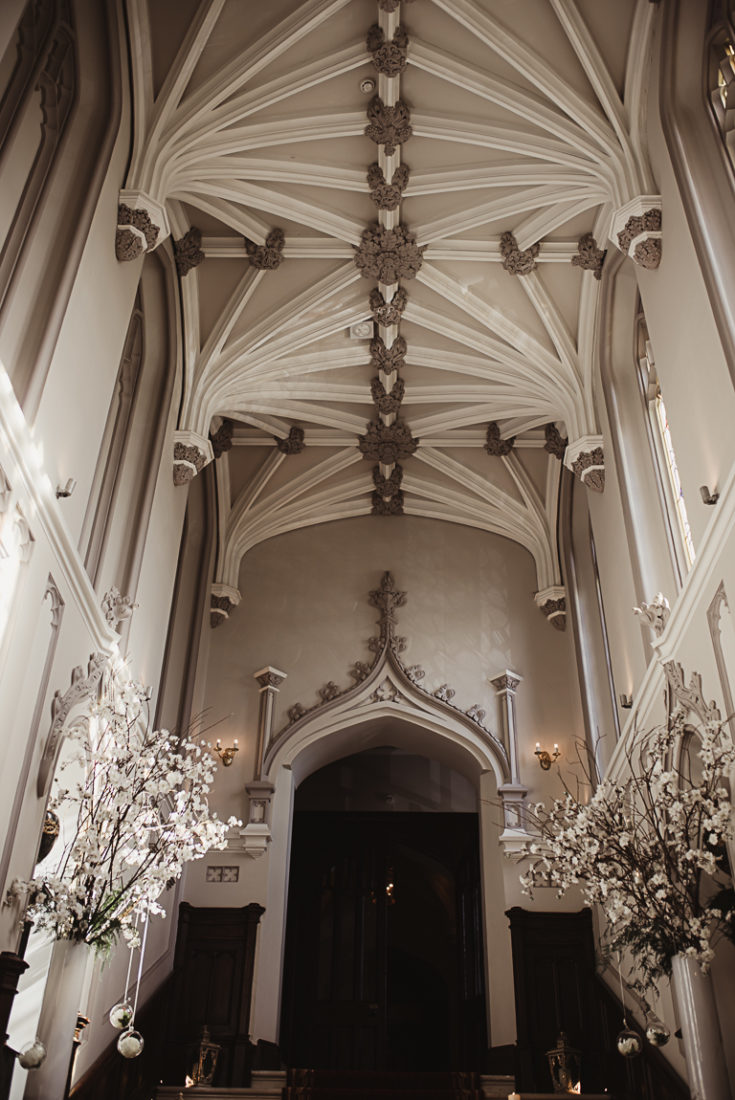 The ceiling of the chapel