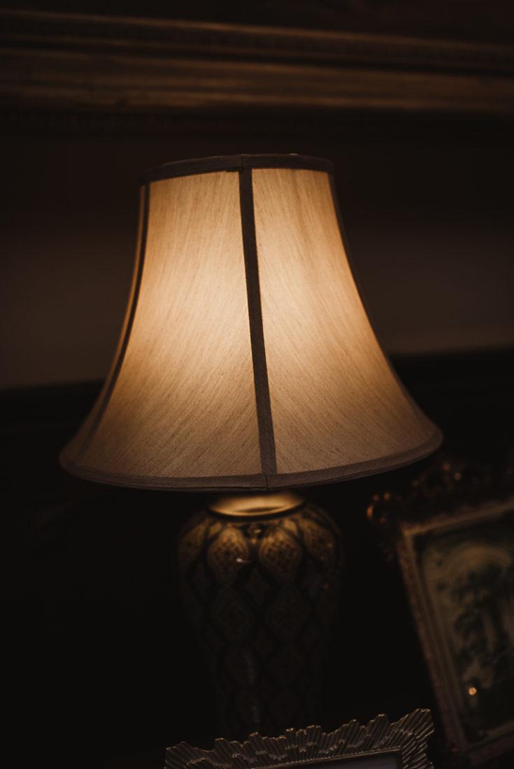 Darkened lamp