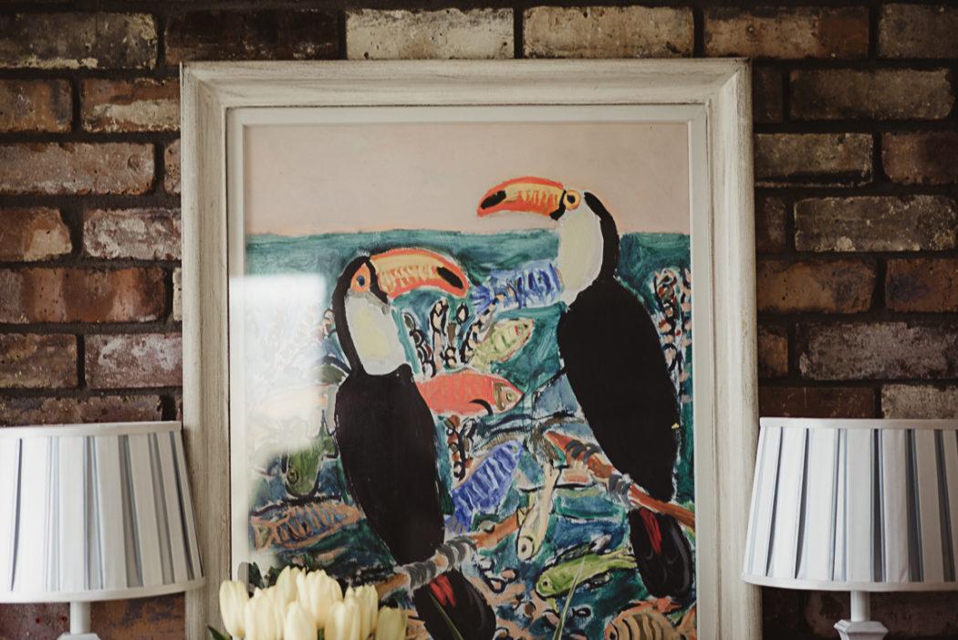 Toucans art painting