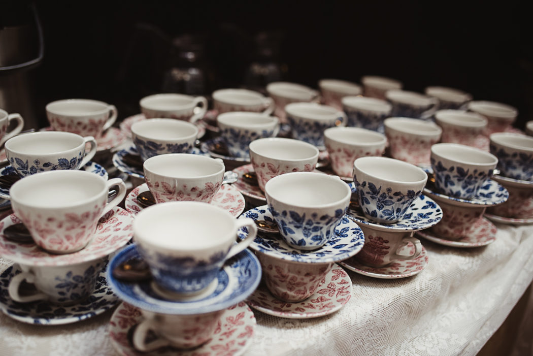 A cups of coffee on a table