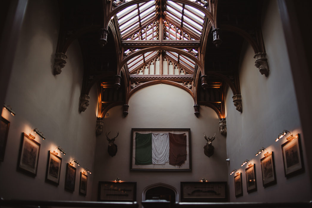 The ceiling in large hall