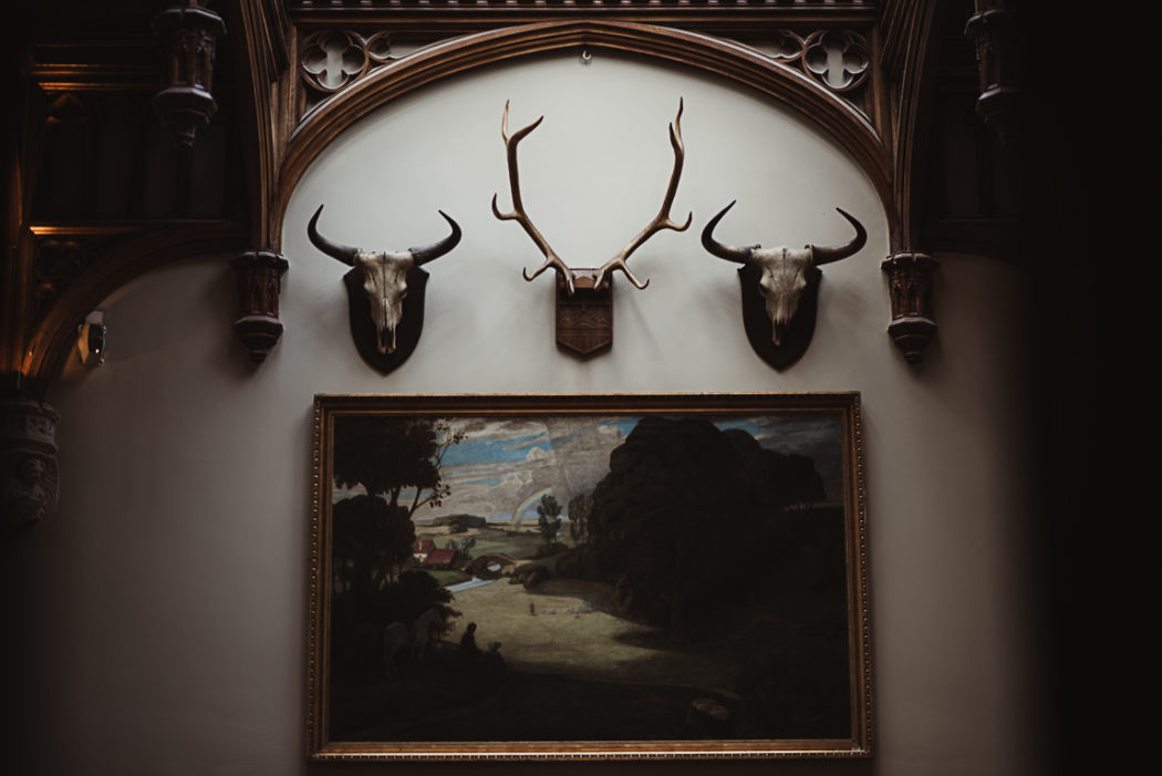 Large painting and trophies in Markree Castle