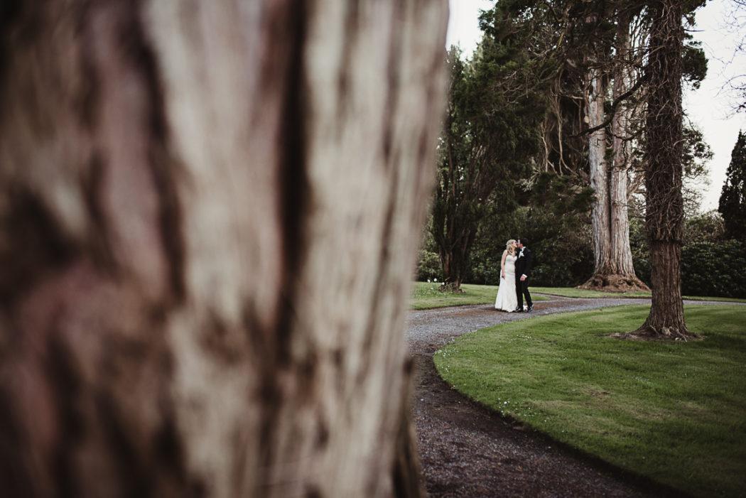 Newlyweds on a walk