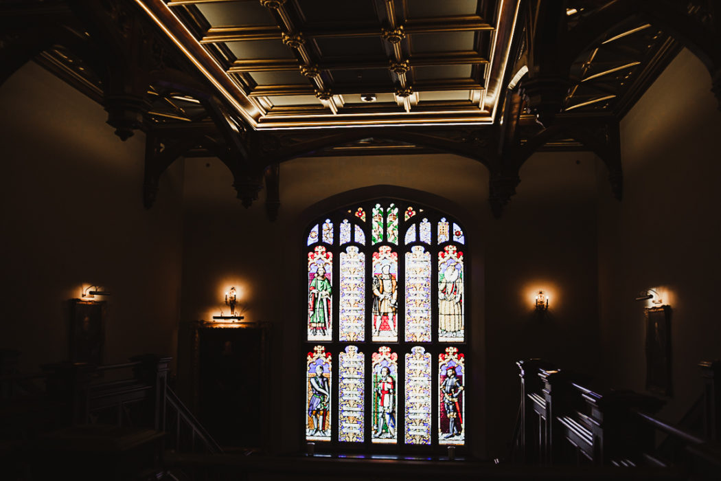 A window with stained glass
