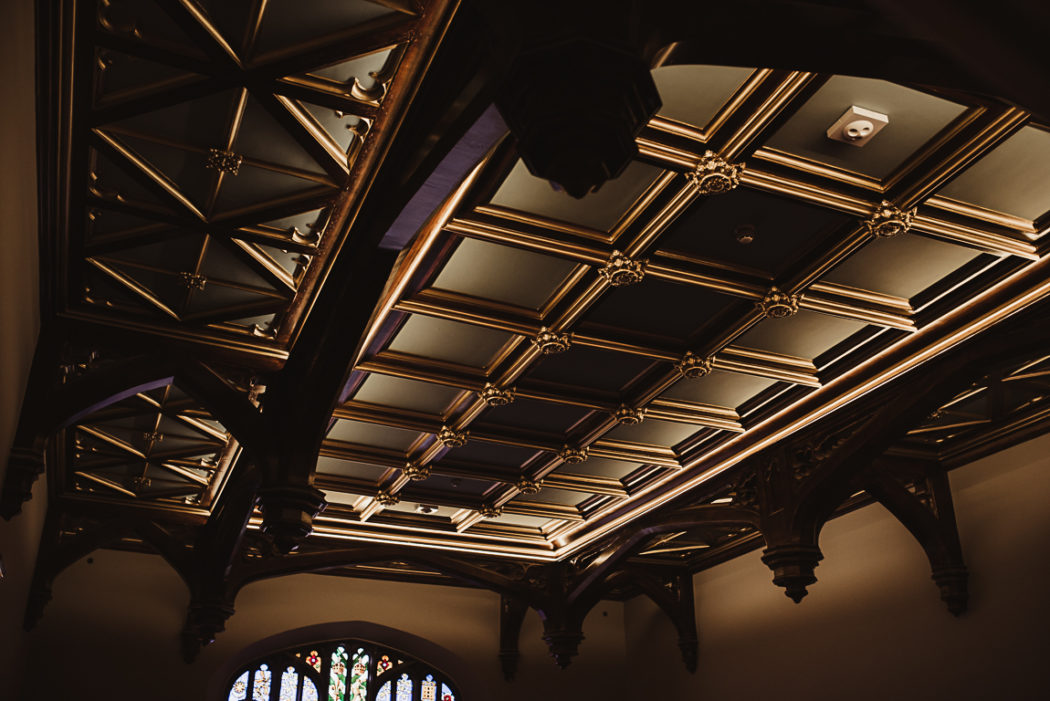 A ceiling in large hall of Markree Castle