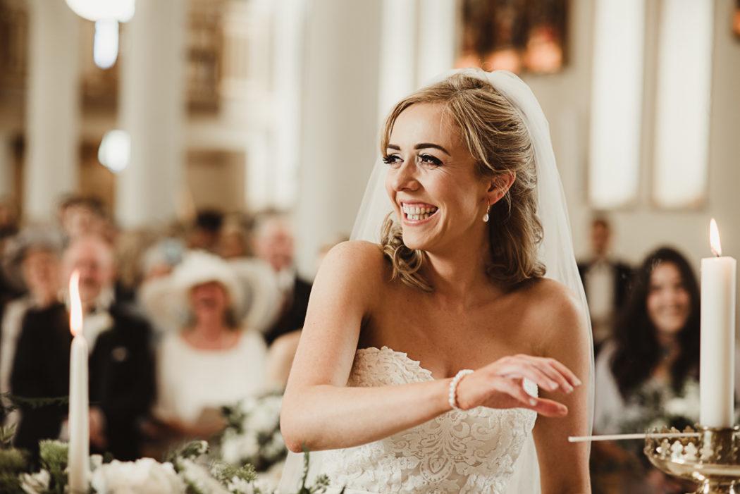 A bride in church