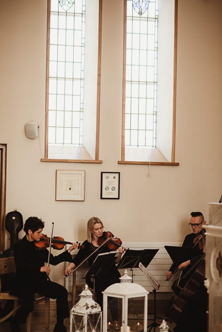 The musicians in a church