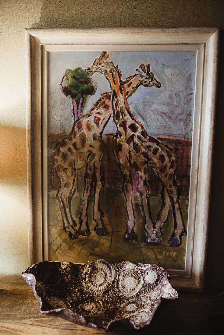 Giraffe art painting