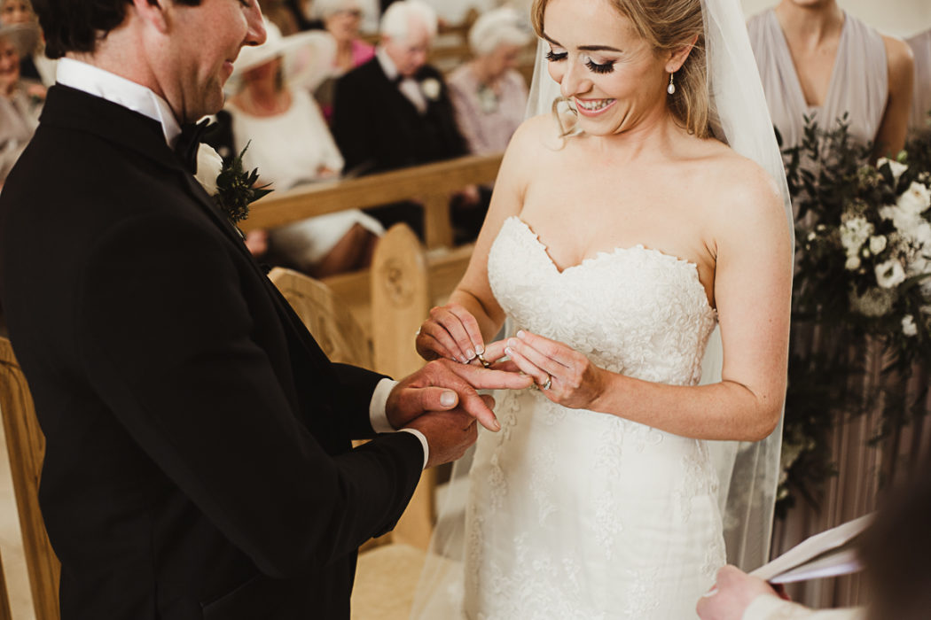 Wife puts a ring on her husband