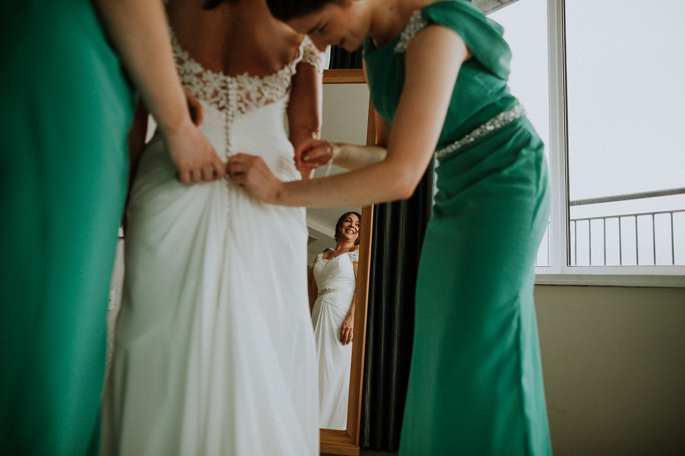 A woman wearing a dress