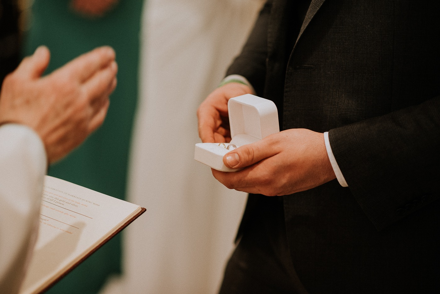 A man holding a piece of paper