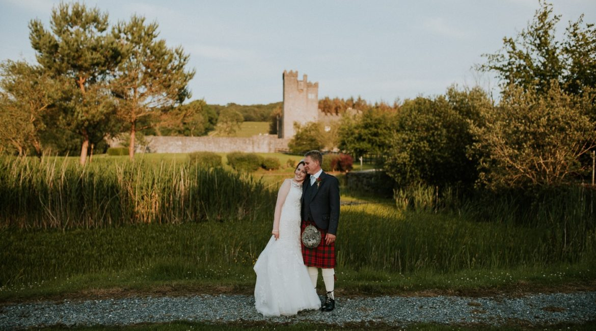 Sneak Peek of Katherine  + Timothy's Wedding at cloghan castle