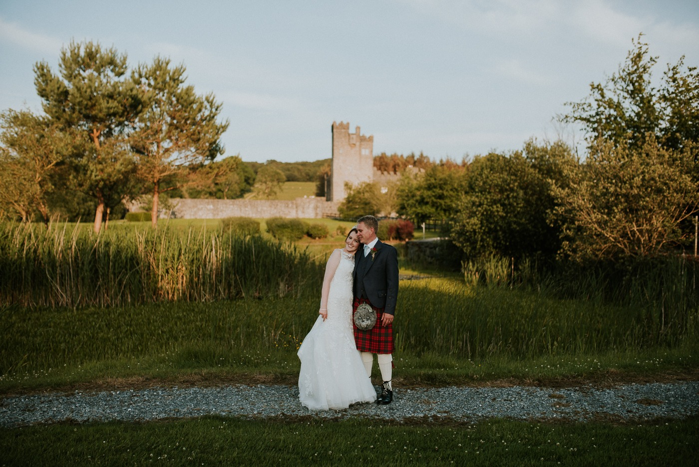 Sneak Peek of Katherine  + Timothy's Wedding at cloghan castle