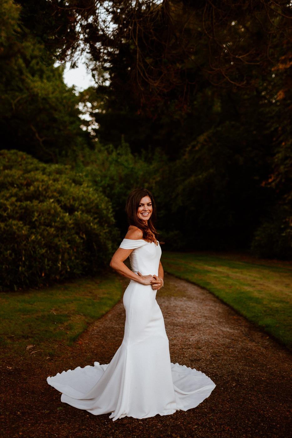 Molly Hanten wearing a dress