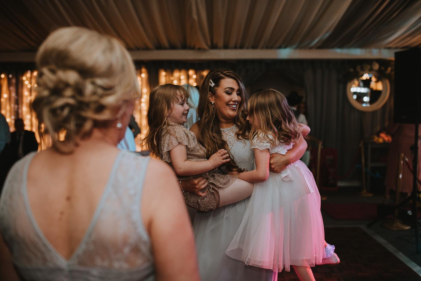 A woman in a wedding dress