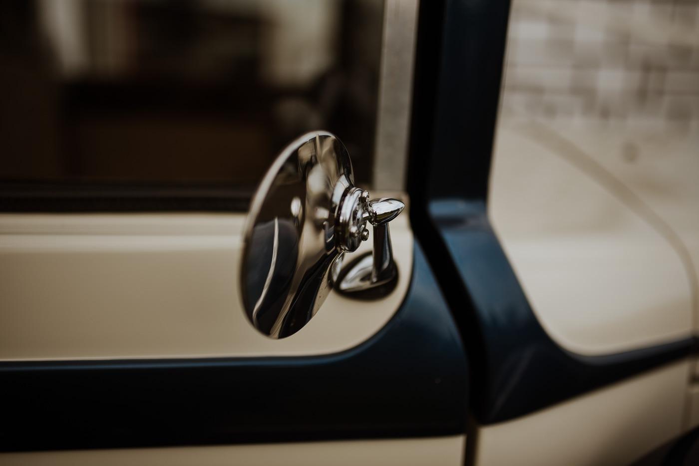 A close up of a car window