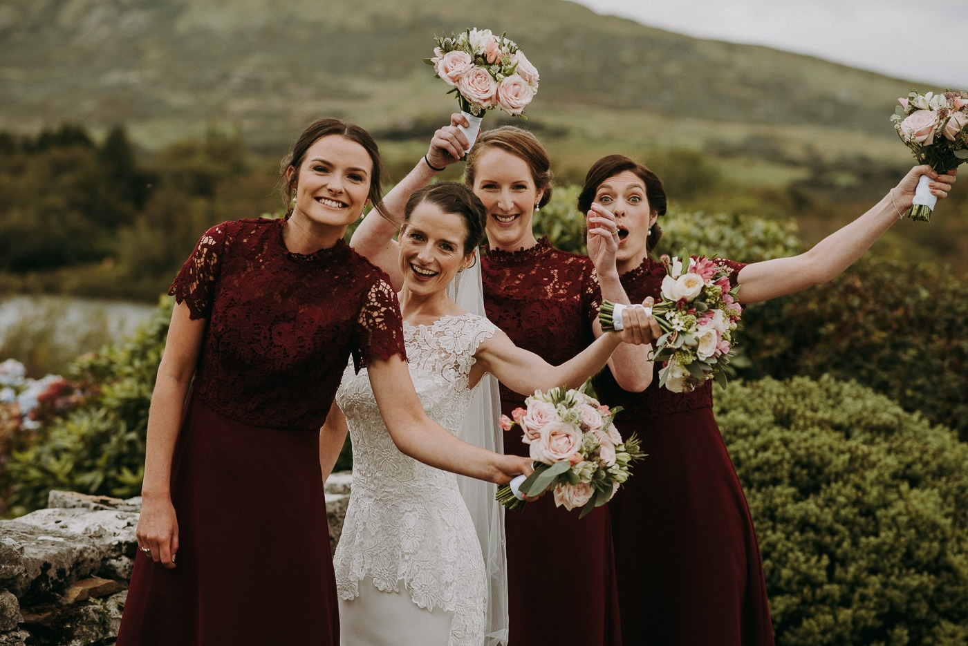 Leonora Kennedy et al. that are standing in a wedding dress