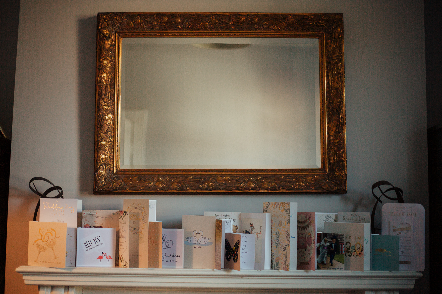 A painting of a large mirror