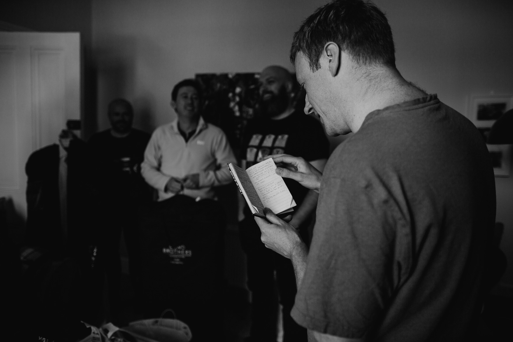 A man holding a laptop