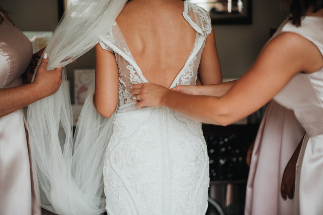 A person in a wedding dress