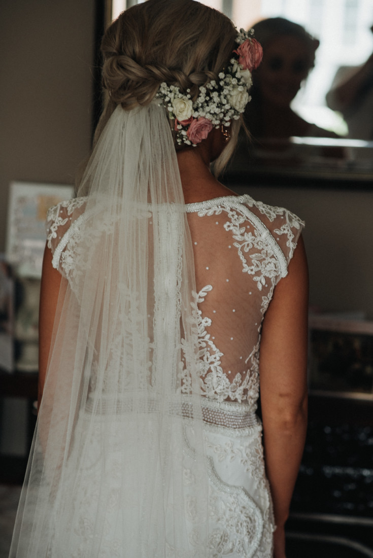 A girl in a dress